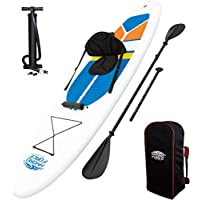 Bestway 65069- Tabla Paddle Surf Bestway WaveEdge SUP White Cap (305 x 81 x 10 cm) - Remo de aluminio, asiento ajustable, bolsa de transporte e inflador
