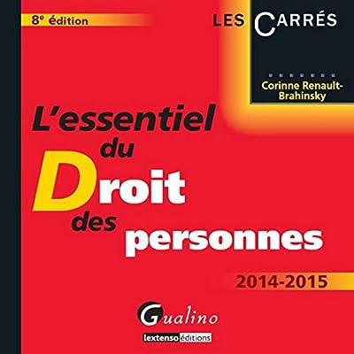 L'Essentiel du droit des personnes 2014-2015