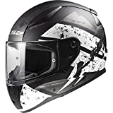 LS2 RAPID Deadbolt Matt Black White Helmets