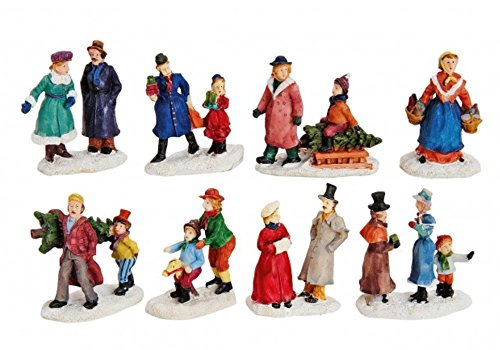 Figuren-Set 8 teilig Lichthaus Winterwelt H6 cm schönes Detail für ihre Miniaturwelt
