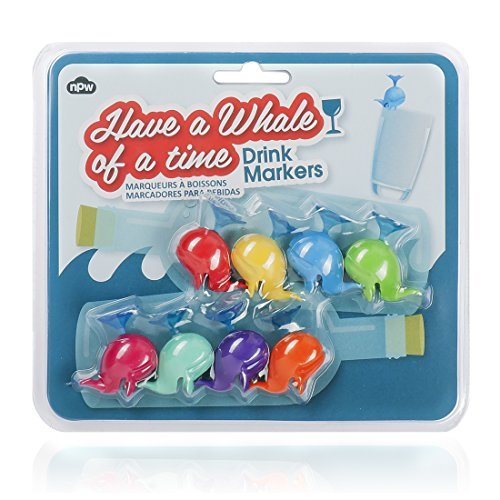 Wal Whale Partei Glasmarkierer Drink Markers