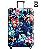 Fodera per valigie, THOMA Cover protettiva per valigia lavabile - Travel Elastic Spandex Valigetta Protector con etichetta bagaglio per bagagli da 18 a 32 pollici