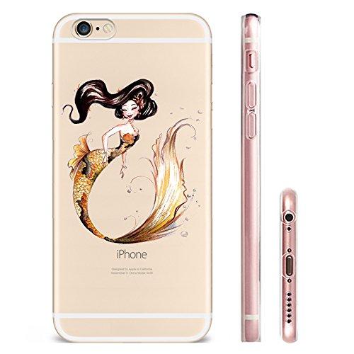 IPHONE SE 5 5S Hülle Meerjungfrau Ananas Liebe Muster TPU Silikon Schutzhülle Handyhülle Case - Klar Transparent Durchsichtig Clear Case für iPhone 5 /5S/SE MRY5