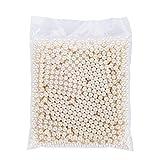 Perlen für Make-up Bürstenhalter Organizer, aiyoo 1500 pcs Highlight Kunststoff rund Perlen, Durchmesser 8 mm, DIY Art Faux Perlen, Make Up Pinsel Halter Zubehör elfenbeinweiß