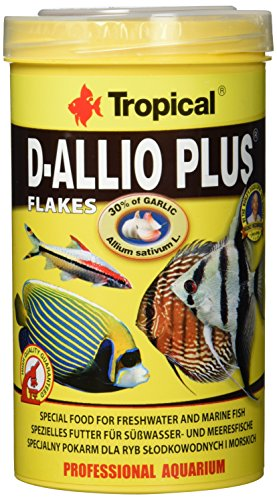 Tropical D-Allio Plus Flockenfutter mit Knoblauch, 1er Pack (1 x 500 ml) (Tropical-flocken Plus)