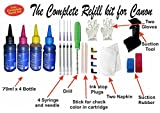 #7: GoColor The Complete Refill kit With ink for Canon Printer ( 70 ml X 4 Color Bottle & Complete Accessories)