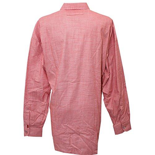 Signum, Freizeithemd langarm, Classic Cut, rot weiß gepunktet [16054] rot weiß gepunktet