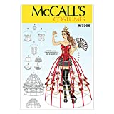McCall's Patterns M7306 Corsets, Shorts, Collars, Hoop Skirts & Crown, A5 (6-8-10-12-14)