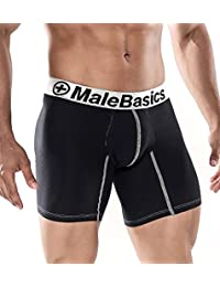 Male Basics MB-002 Long Boxer Brief Red Mens Underwear