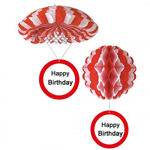 Udo Schmidt Geburtstag Hänge Deko Ballon und Fallschirm Happy Birthday