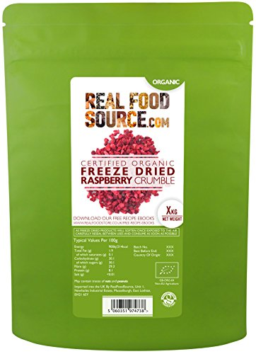 RealFoodSource Certified Organic Freeze Dried Raspberry Crumble (100g) Test