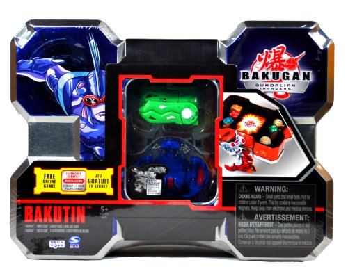 Spin Master Year 2010 Bakugan Gundalian Invaders Box Set - Blue BAKUTIN with ...