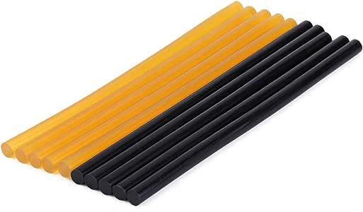 X AUTOHAUX 12 Pcs 11mm X 270mm Hot Glue Sticks Auto Body Paintless Dent Removal Repair Black Yellow for Car