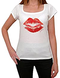 Red Kiss, tee shirt femme, imprimé célébrité,Blanc, t shirt femme,cadeau
