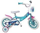 EDEN-BIKES Vélo 12' Fille Reine des Neiges/Frozen avec 1 Frein Caliper - 2 Stabilisateurs - Pneus Eva Increvables