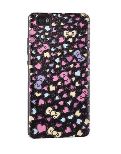 BACK CASE PRINT 3D Herz Hearts für Apple iPhone 5 iPhone 5S iPhone 5G iPhone 5SE Silikonhülle Hülle Etui Flip Cover Silikon Tasche (schwarz / black) schwarz / black