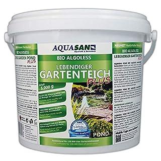 AQUASAN Bio ALGOLESS Lebendiger Gartenteich Plus (GRATIS Lieferung in DE - Fördert die Wasserqualität, entfernt Fadenalgen, Schadstoffe, Schwimmteiche, Algenmittel), Inhalt:5 kg