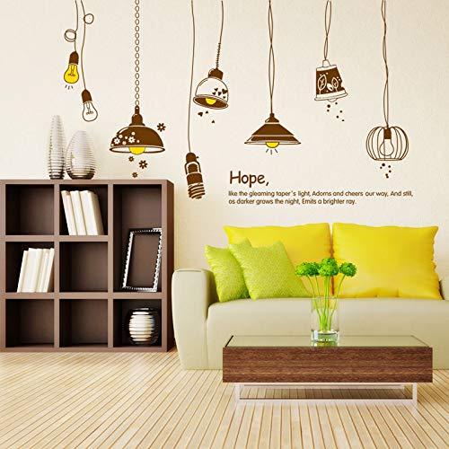 Wohnzimmerhintergrund Wand Warm Schlafzimmer Kreativer Kronleuchter Hängende Wand Sticker Abnehmbare Persönlichkeit Dekoration Wand Sticker,Bulb Retro,Extra Groß - Latex Bulb