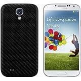 kwmobile Coque carbon pour batterie aspect carbone pour Samsung Galaxy S4 en noir - Assortie au design de votre Samsung Galaxy S4