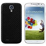 kwmobile Tapa para batería con aspecto de carbono para el Samsung Galaxy S4 en color negro -...