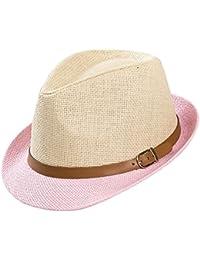 Leisial Unisexe Panama Chapeau de Paille Casquette visières Anti-soleil Respirant Anti-UV pour été Loisir Voyage