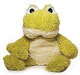 Inware 8714 - Kuscheltier Frosch, als Wärmetier, Füllung herausnehmbar