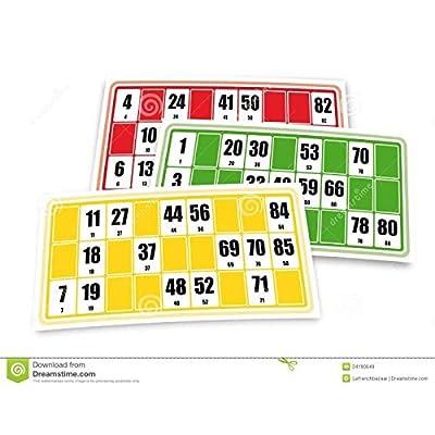 Cartons français de Jeu de Loto 96 Cartes Carton de Loto