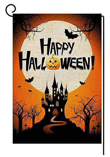 Godlove Happy Halloween Herbstfahne Gartenflagge vertikal, doppelseitig, 31,8 x 45,7 cm, Herbsthof-Dekoration
