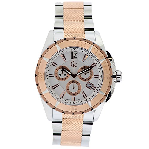GUESS G53002G1 GENTS MULTICOLOR STEEL BRACELET & CASE CHRONOGRAPH DATE WATCH
