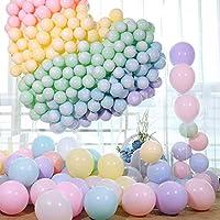 مجموعة بالونات مطّاط باستيل لاتكس 10 انش مكونة من 100 بالون، بالونات ملونة لزينة الحفلات، بالونات لاتكس لزينة حفلات الزفاف والتخرج واعياد ميلاد الاطفال والكريسماس وحفلات الاطفال، برج البالونات