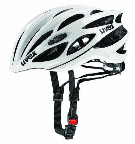 Uvex Race 1 Casco de Ciclismo, Unisex adulto, Blanco, 55-59 cm