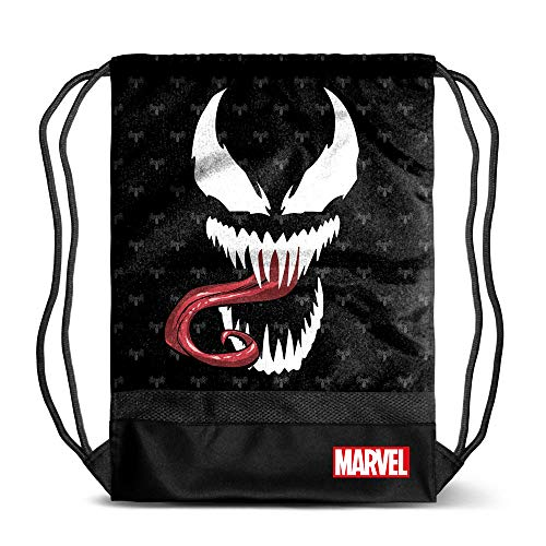 Karactermania Venom Venom-sacca Storm Bolsillo Suelto para Mochila 48 Centimeters Negro (Black)