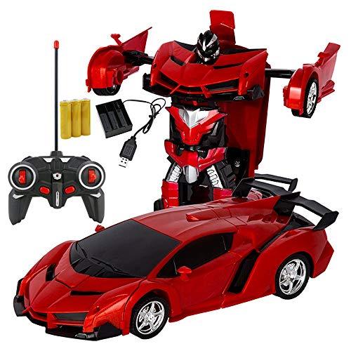 Trasformazione Auto Robot Veicolo Sportivo Modello Robot Giocattoli Carica Giocattoli per Bambini Rosso