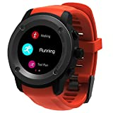 Man Woman GPS Watch Multi Sport Running Watches with Heart Rate Monitor and Smart Notifications Smart Watch Compatible IOS 8.0 & Android 4.4 and above,2-3 Days Standby Time Charging Station (Orange)