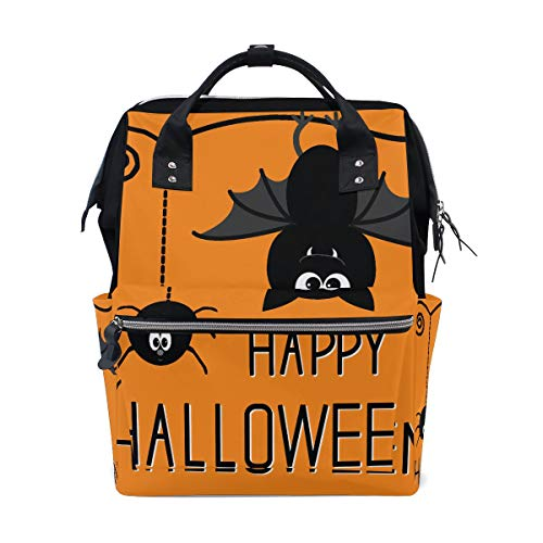 Halloween Orange Scary Eye Fledermaus Große Kapazität Windel Taschen Mummy Rucksack Multi Funktionen Wickeltasche Tasche Handtasche Für Kinder Babypflege Reise Täglichen Frauen