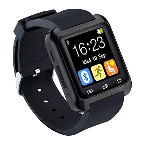 CHEREEKI Bluetooth Smartwatch Orologio sportivo Smart Fitness Wristband, Orologio da telefono con multilingue Pedometro Touch screen per Samsung Note 8 HTC Sony Huawei P9 e altri dispositivi Android