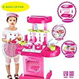 AKSH Toyz Kitchen Set Kids Luxury Battery Operated Kitchen Super Set Toy