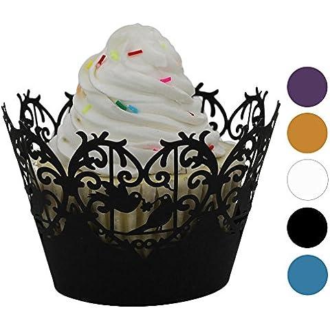rybyte (TM) 25pc favor Candy cajas caja de regalo de Navidad Fiesta encaje corte láser Cupcake envoltorio regalo Candy CAJA