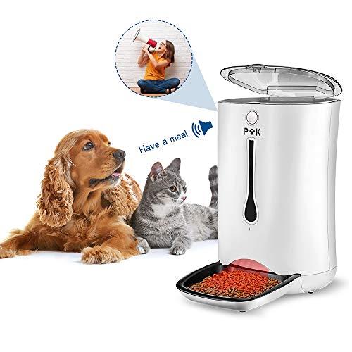 ❤️Pet-U Dispensador de alimento automático, ¡una ayuda esencial para su mascota! Encender / apagar El interruptor de alimentación se encuentra en la parte inferior de la unidad, presione el interruptor para encender / apagar Hasta 4 veces al día. Cad...