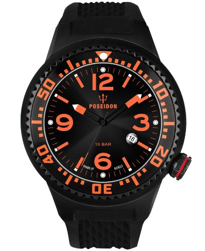 Kienzle Men's Quartz Watch POSEIDON XL Slim K2031043263-00389 with Rubber Strap