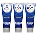 Veet for Men Enthaarungs-Gelcreme 3er Pack (3 x 200ml)