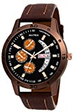 Matrix Analog Day & Date Functioning Black Dial Chono Look with Tachymeter Watch for Men/Boys (DD-50)