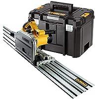 DEWALT - Scie Plongeante 59 mm - DWS520KTR-QS - Scie Circulaire Plongeante Filaire 1300 W avec Coffret TSTAK et Rail de…