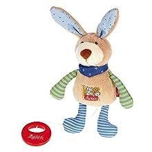 Sigikid 22 x 10 x 7.5 cm Babyspielzeug Musical Bunny (Multi-Colour)