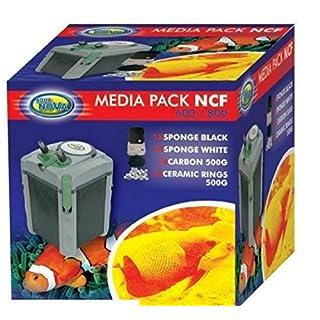 Aqua Nova Media Pack NCF 600 800 filter - carbon & ceramic rings & sponge
