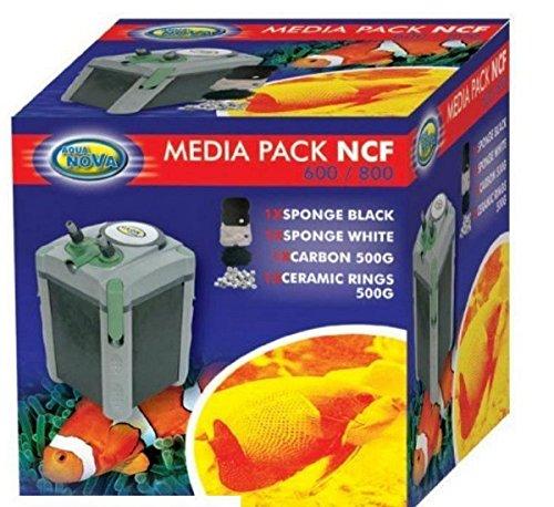 Biotope Aquatics Ltd Aqua Nova Media Pack NCF 600 800 Filter - Karbon & Keramik Ringe & Schwamm