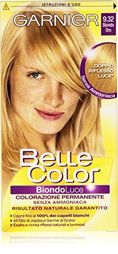 teinture pour les cheveux couleur permanent belle color luce 9,32 blond oro