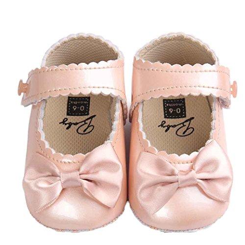 Bowknot Mädchen Sohle Baby Gold Leder Bzline® Krabbelschuhe Weiche Schuhe CEq51