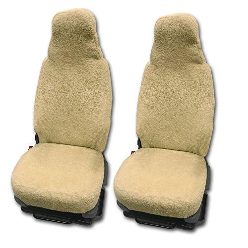 RAU Universal Sitzbezuge Schonbezüge aus 100{407bf60feaa08362fbff3fb5861ddc2d80dbe99132bf7877a9b62ff5ff6af293} Frottee Farbe: Sand für Pilotsitze und Wohnmobile