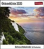 Ostseeküste Postkartenkalender 2020. Wochenkalendarium. Blockkalender. Format 16 x 17,5 cm -